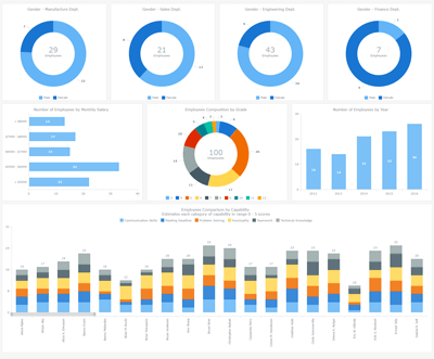 Human Resources Dashboard | Robust JavaScript/HTML5 charts | AnyChart