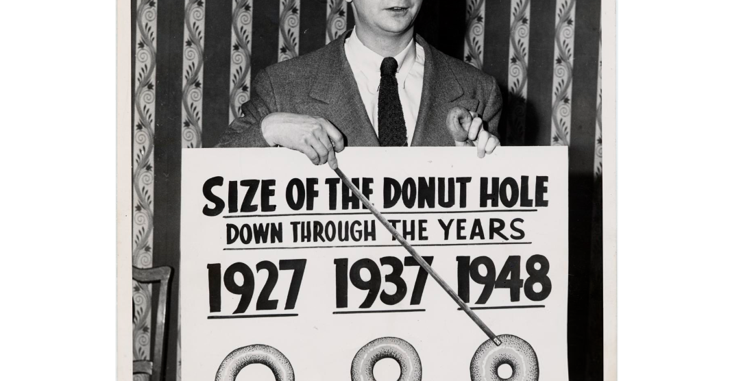 Size of the donut hole (vintage chart)
