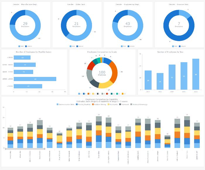 AnyChart | HR Dashboard – Built With AnyChart JavaScript (HTML5 ...