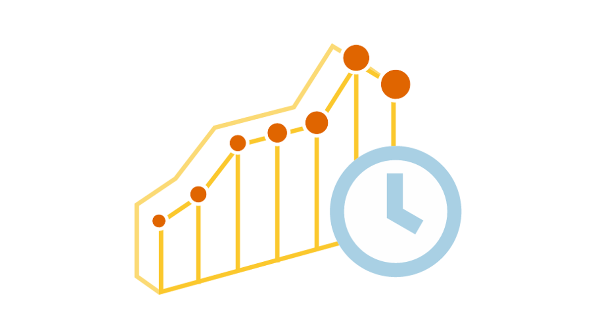 Chart types for data over time visualization and trend context