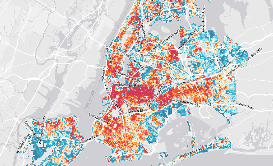 DataViz Weekly: an interactive map of NYC buildings in the Atlas of ReUrbanism