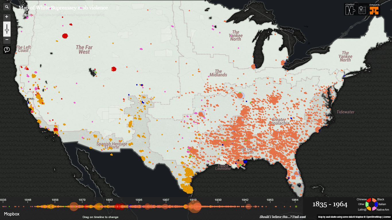 Interactive Map of White Supremacy: Lynchings in America
