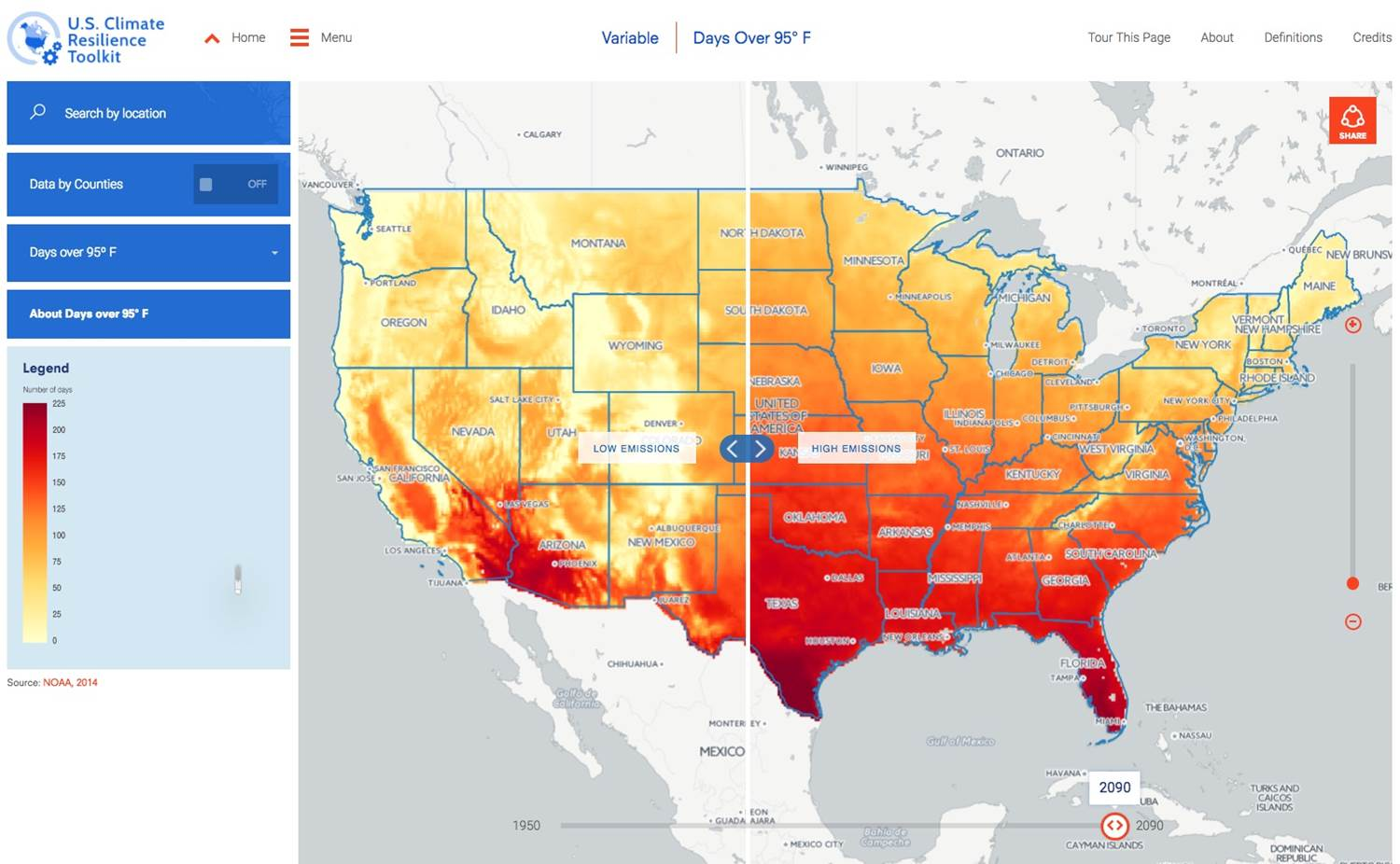 Climate Explorer: Best Data Visualization Examples for Local Climate Trends