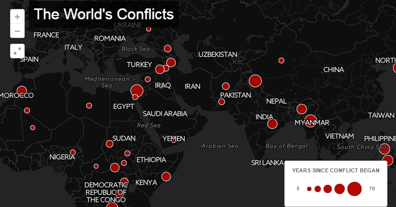 Interactive Map of All Ongoing War Conflicts