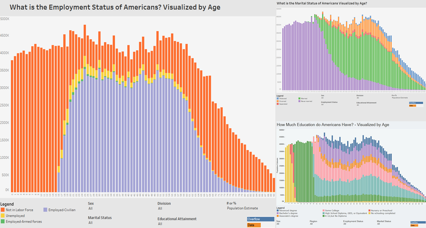 Charts Showing How US Citizens Differ by Age
