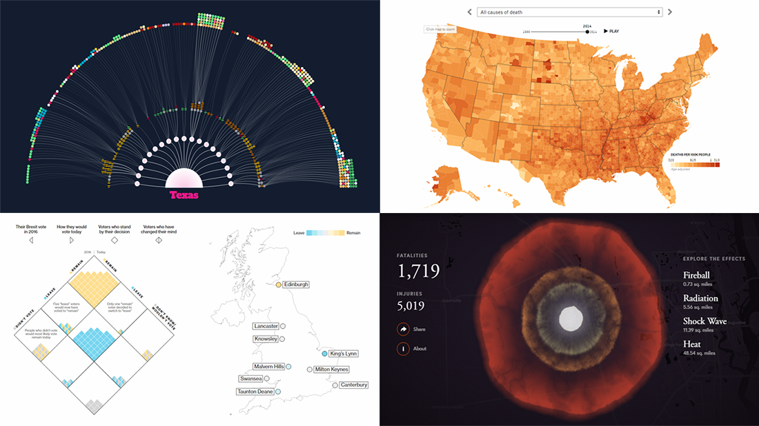Visualizations About Music, Death, Bombs, and Brexit – DataViz Weekly