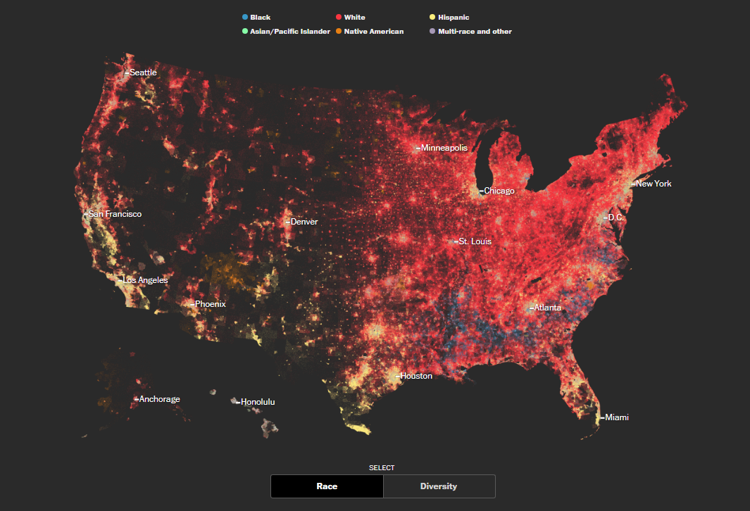 Map of Diversity and Segregation in America
