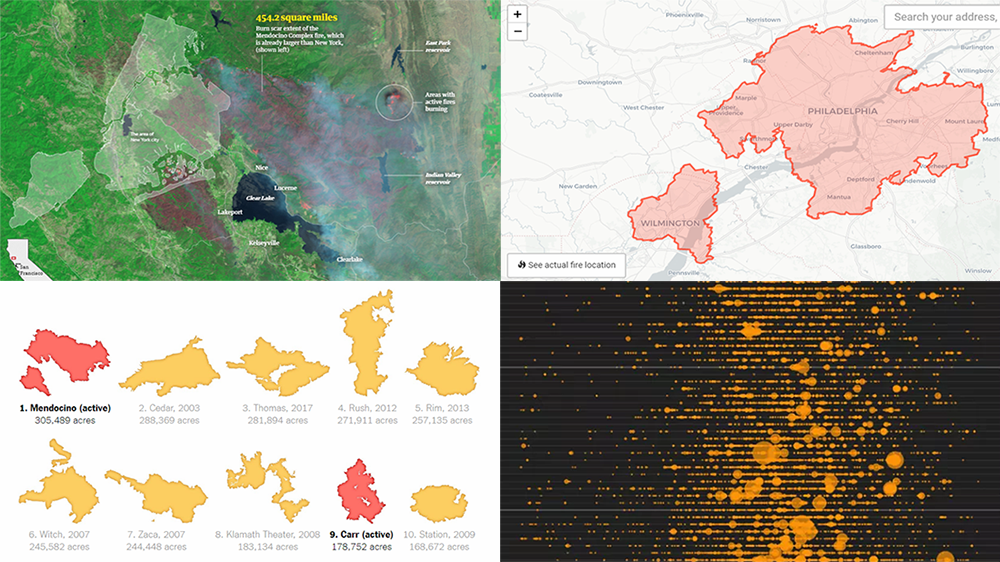 California Wildfire in Maps and Charts — DataViz Weekly — DataViz Weekly