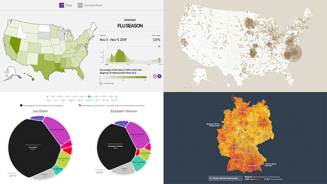 Information Graphics Examples for Primaries, Prices, Flu, and Thanksgiving — DataViz Weekly