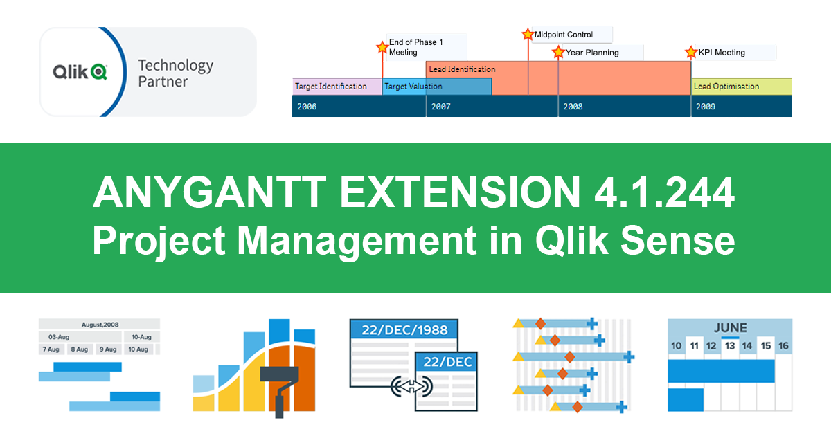 Qlik Sense Timeline Chart and More New Features in AnyGantt Extension V 4.1.244