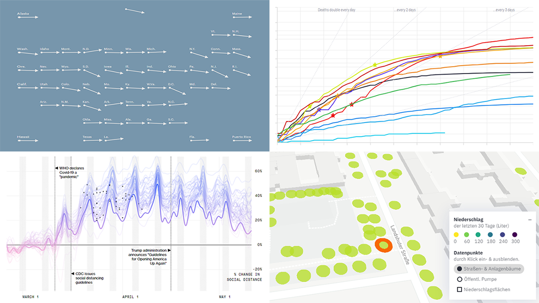Visualizing COVID Statistics and Data About Each Berlin Tree, new best data visualization practices in DataViz Weekly