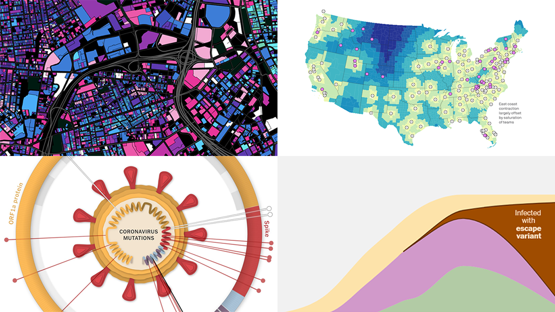 Visualizing information on the coronavirus, MiLB teams and Providence buildings, in a new DataViz Weekly roundup