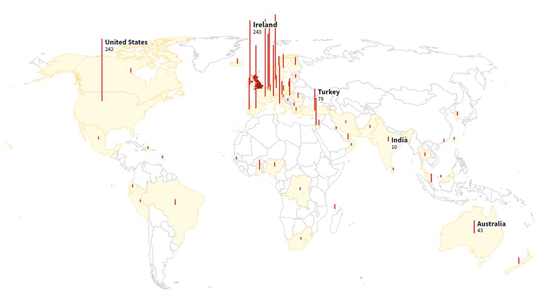 肯特变种在英国和全球范围内的传播