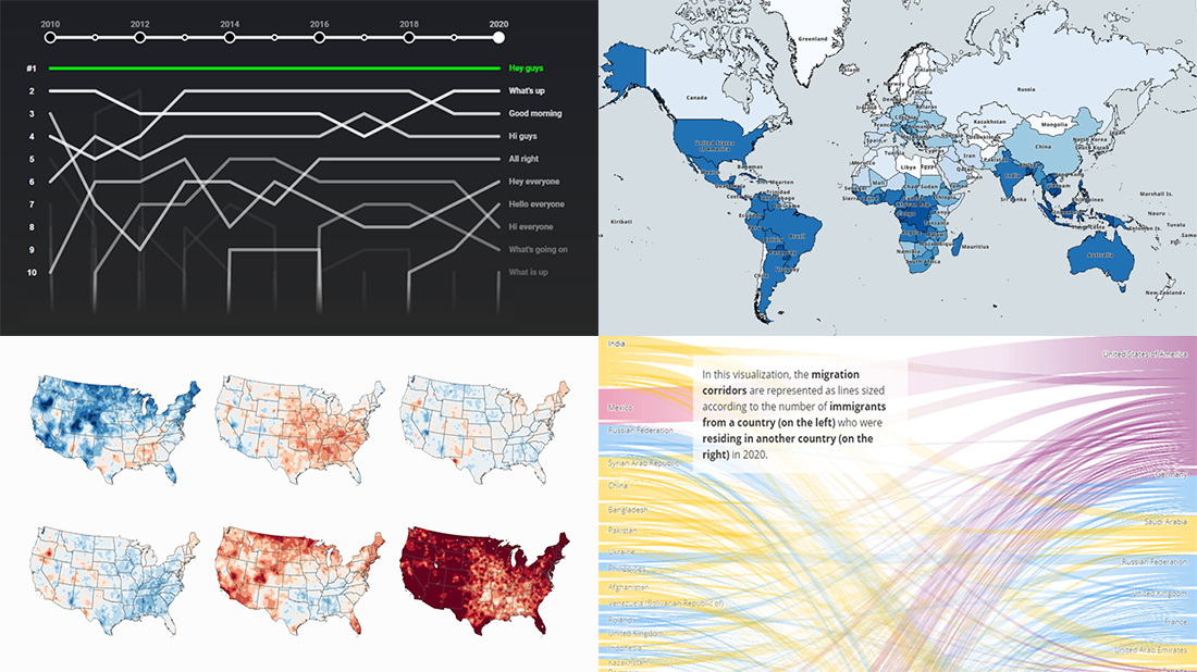 Best New Examples of Visualizations That Let Data Speak, a new DataViz Weekly roundup
