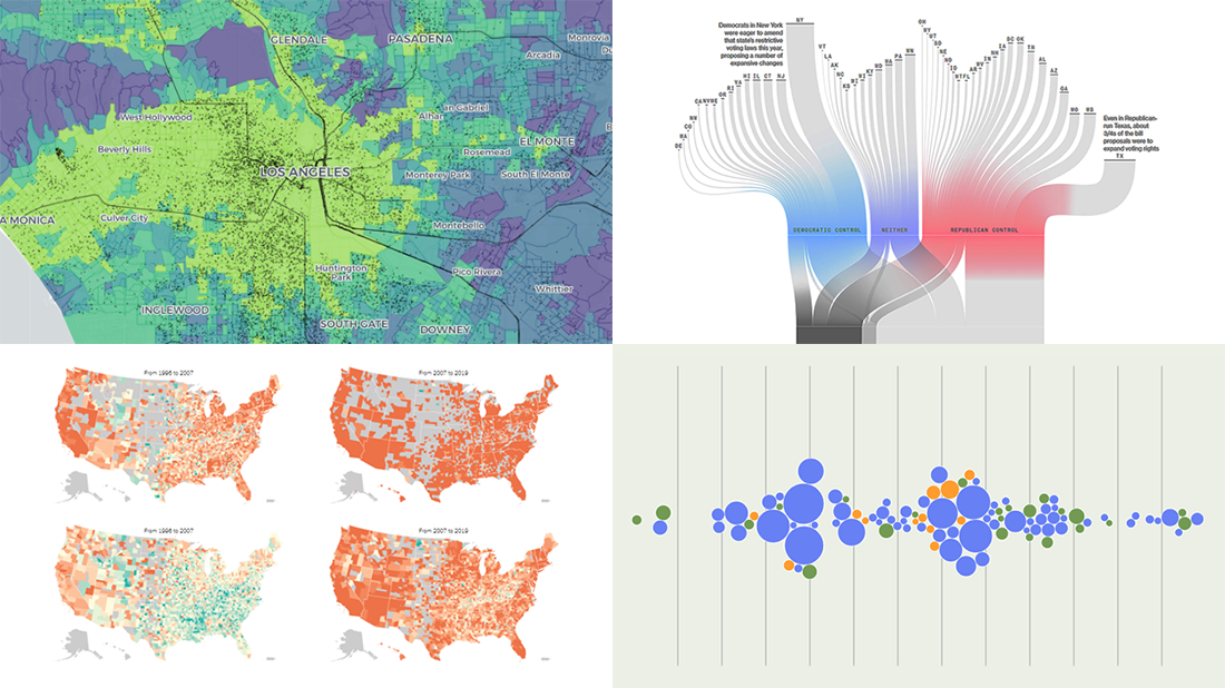 Exploring voting bills, birth rates, hospital billing, transit equity | DataViz Weekly