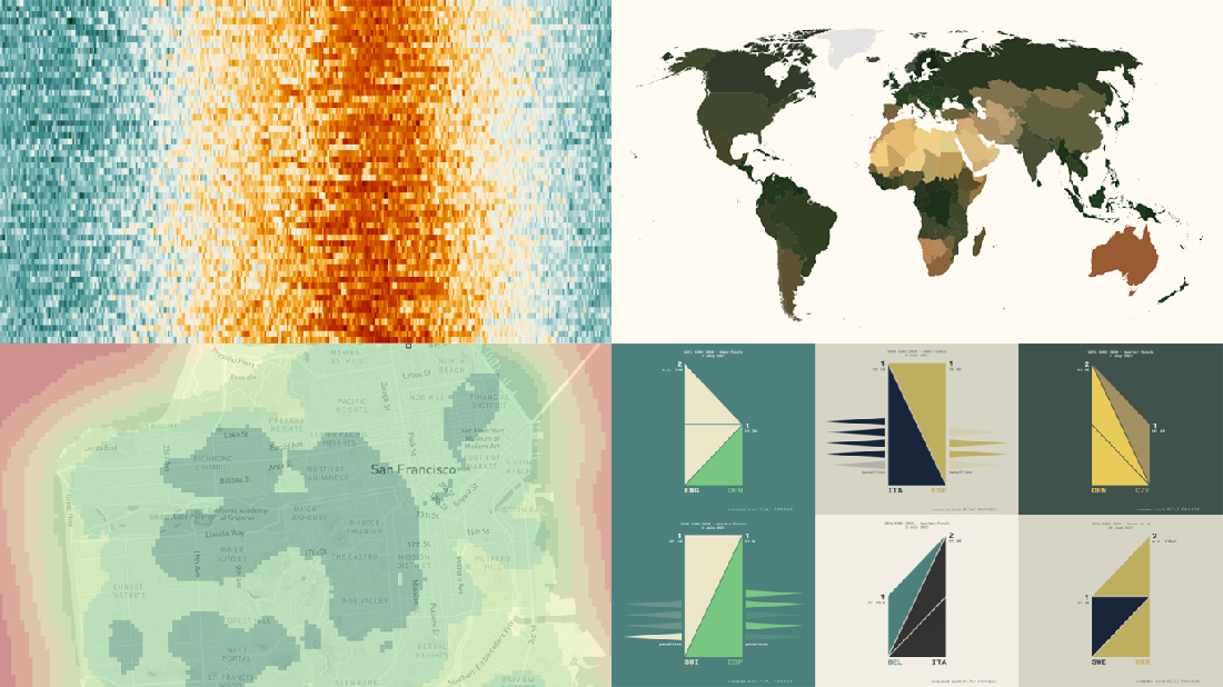 Four new amazing graphics selected for fans of data visualization in new DataViz Weekly